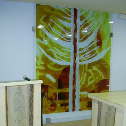 10.12.2011 – Gabi Weiß gestaltete die umgebaute Kapelle im Klinikum Freudenstadt