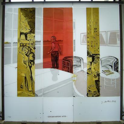 21.09.2012 – Raum der Versöhnung mit Glasbild von Joachim Sauter in der kath. Kirche St. Briccius in Wurmlingen