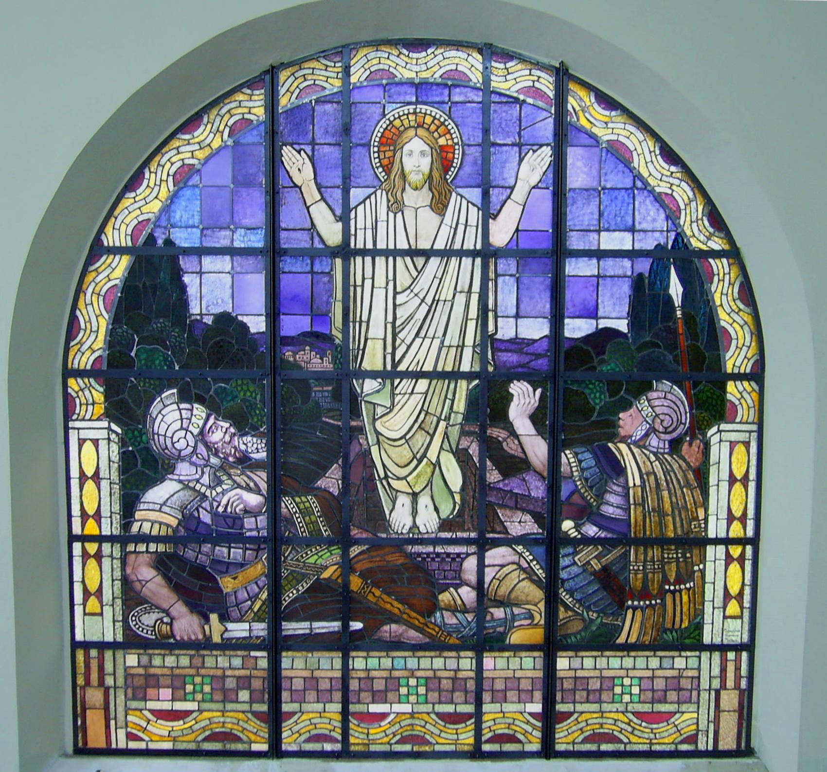 Helmsheim, ev.Kirche Auferstehungsfenster, 2010