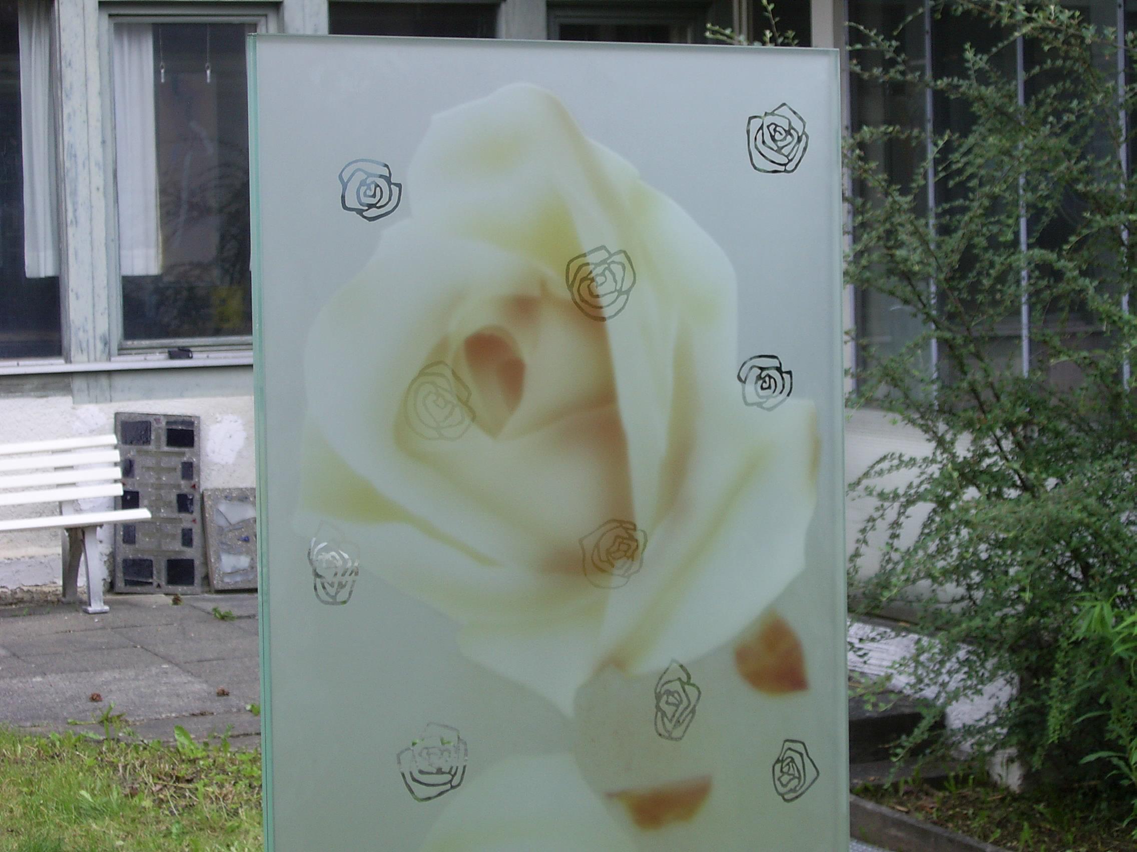 Gabi Weiss, Rosenstele Detail, Ausstellung Bühendes Barock Ludwigsburg, 2009
